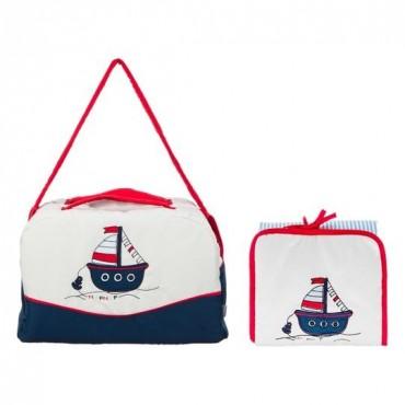 Bolso maternal + cambiador Nafnaf Little Boat