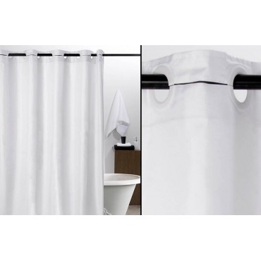 Cortina baño lisa blanca